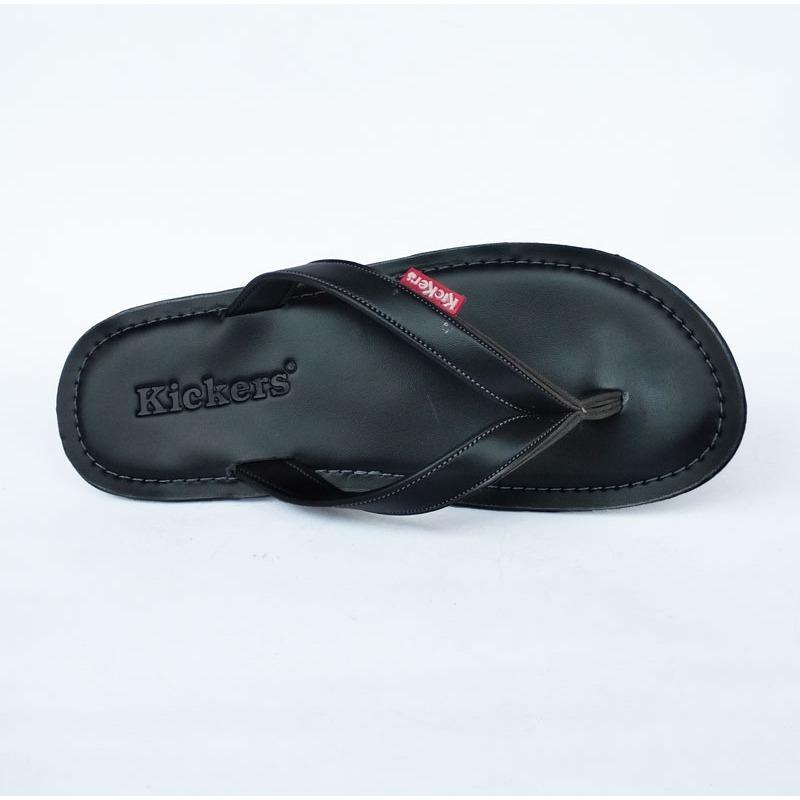 Sandal Jepit Kickers HT02 - Sandal Casual - Sandal Jepit HITAM