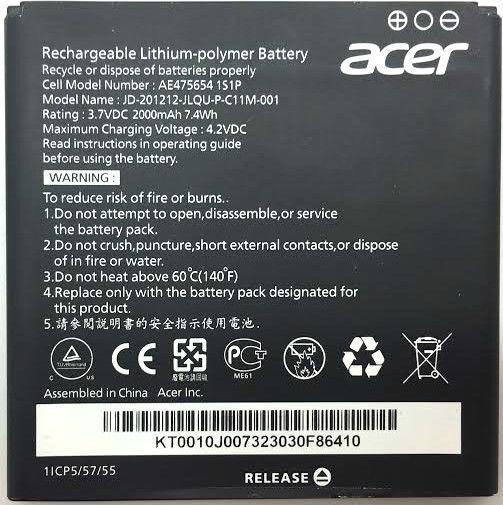 Grosir BATTERY BATERAI BATRE ACER Z520 ORIGINAL 99%