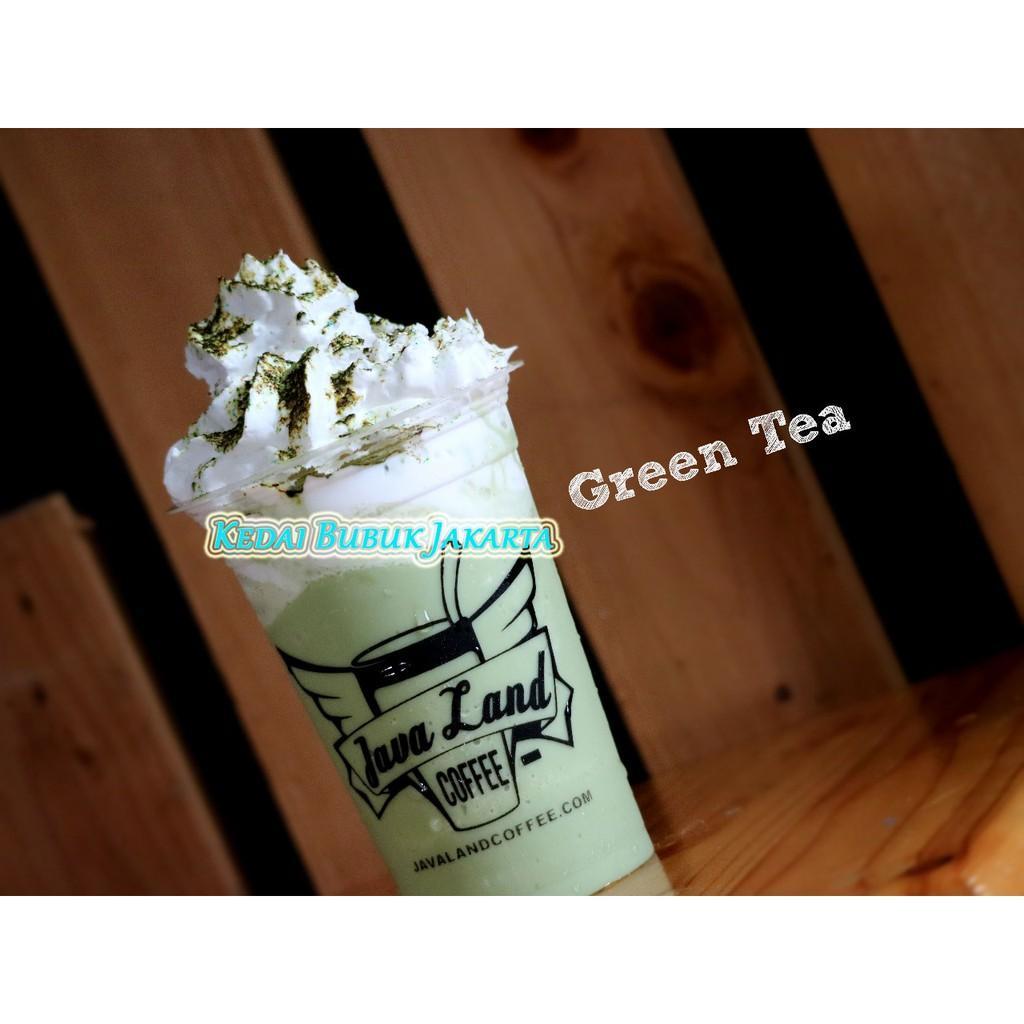 Bubuk Minuman Bubble Powder Drink Rasa Green Tea ORIGINAL Javaland 1Kg
