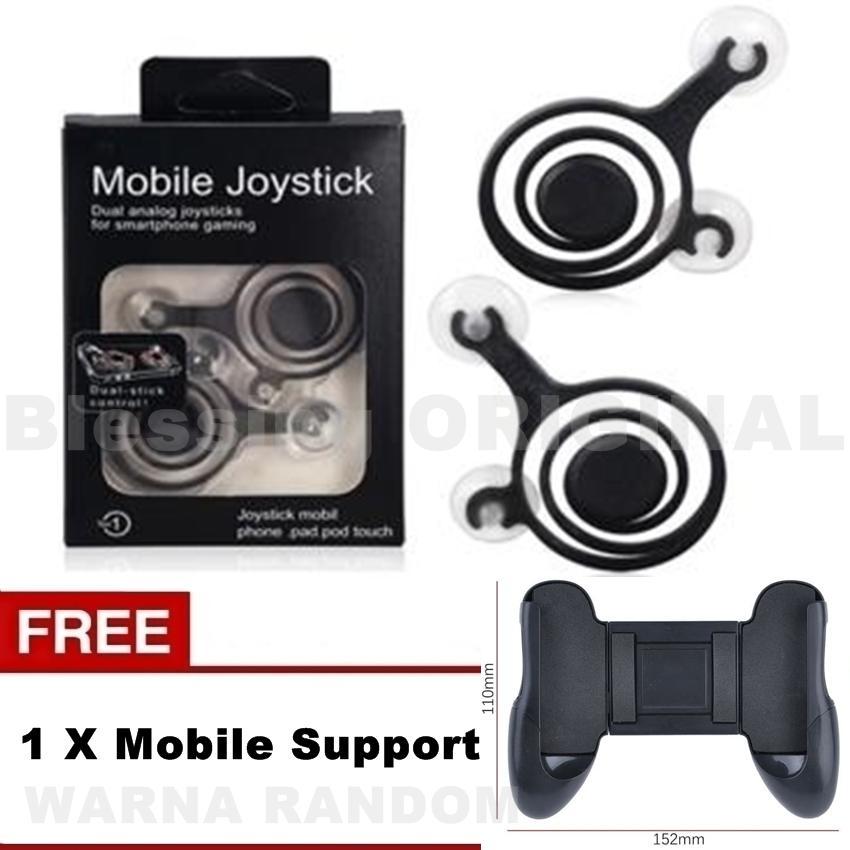 Blessing Joystick mobile gaming mobile legend game pad joystick - Warna Random FREE Gamepad Holder