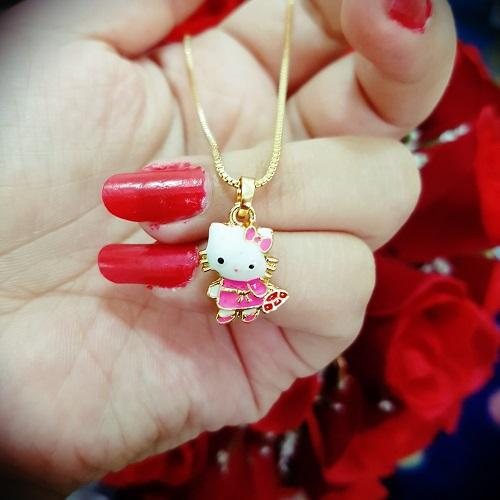 kalung kitty pink tas anak xuping