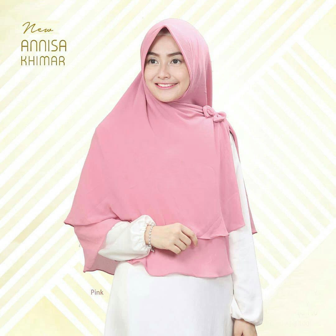 Kehebatan Kerudung Hijab Jilbab Khimar Instan Syari Plain Nayla Wolfis Murah New Annisa Dusty