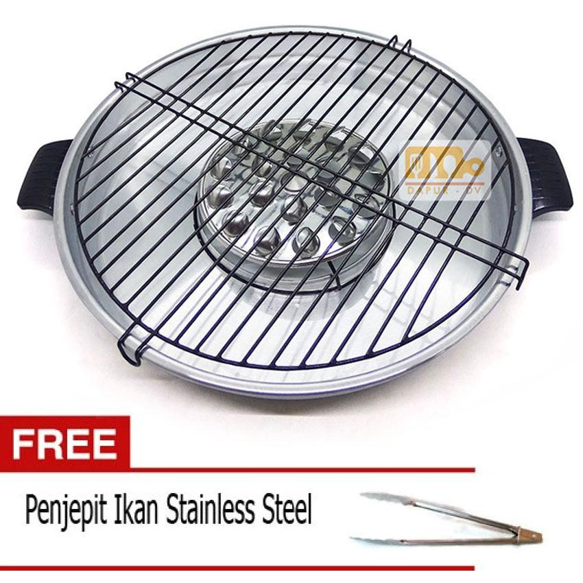 Maspion Fancy Grill 33 cm + Gratis Jepitan Stainless Steel