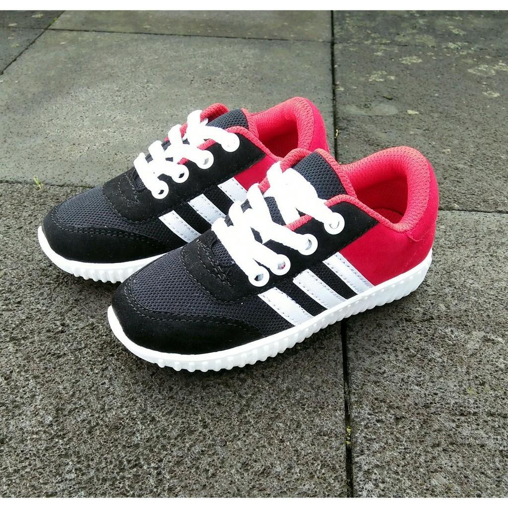 Kehebatan Tjgda 9508 Sepatu Sneakers Anak Laki Warna Hitam Bahan Synth Merah