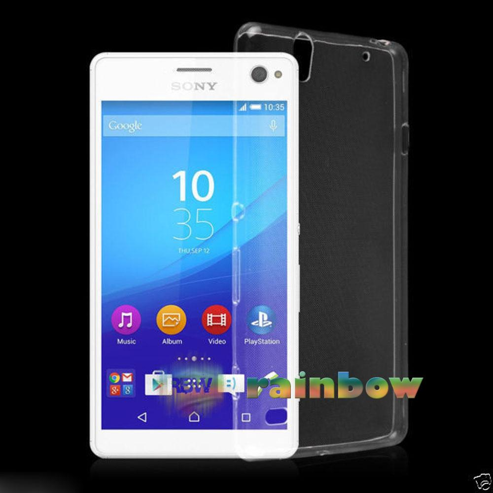 Rainbow Ultrathin Sony Xperia C4 Silicone Soft Case Ultrathin Jelly Air Back Case 0.3mm /