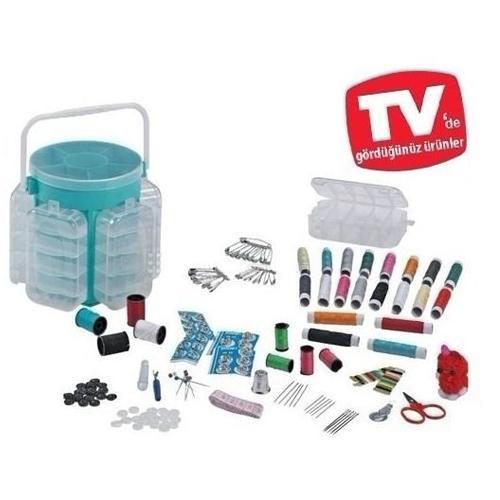 Deluxe sewing kit 210pcs sew box alat perlengkapan jahit set jarum