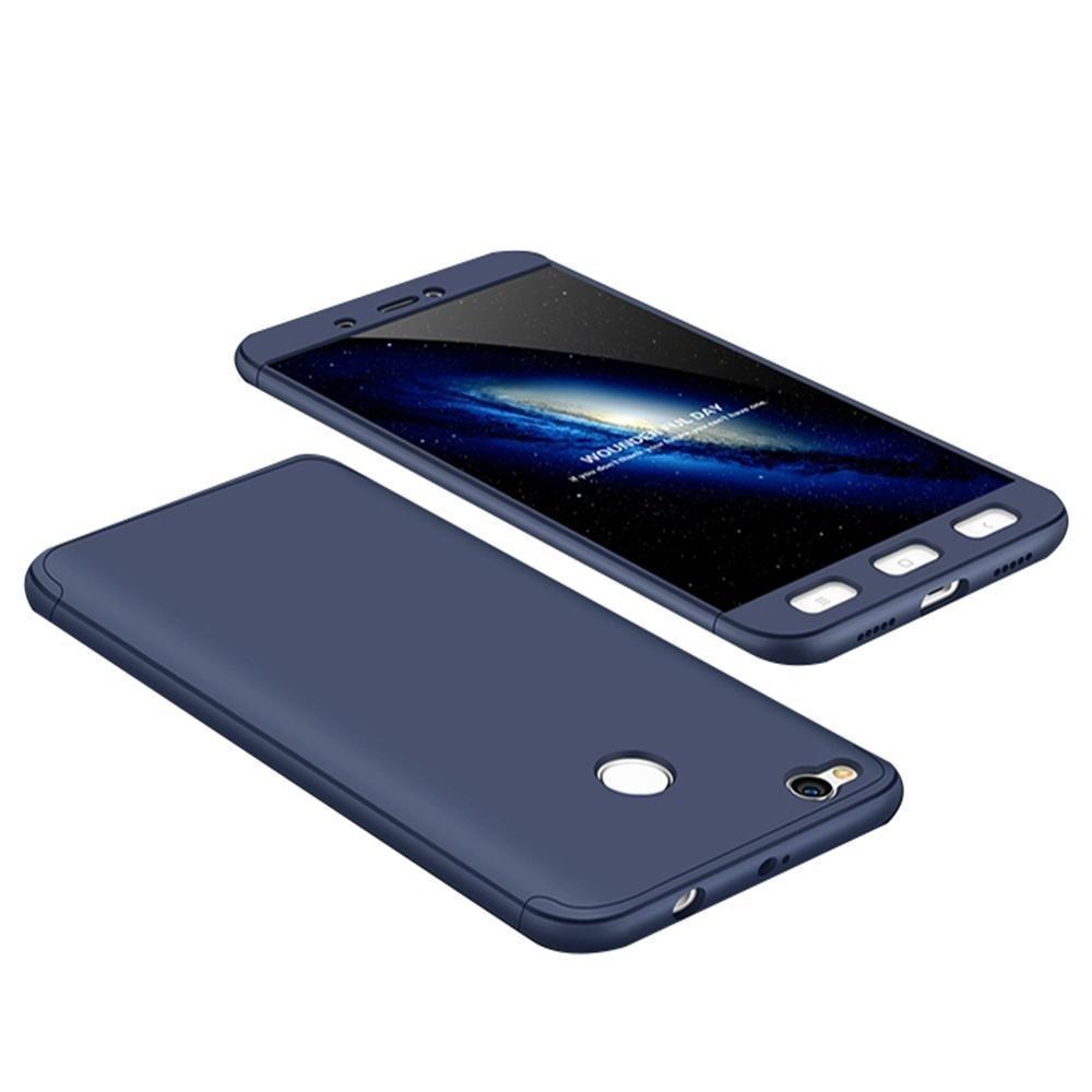 Hardcase 360 NeoHybird Xiaomi Redmi 4X Full Body protect Free Tempered Glass (Blue) -