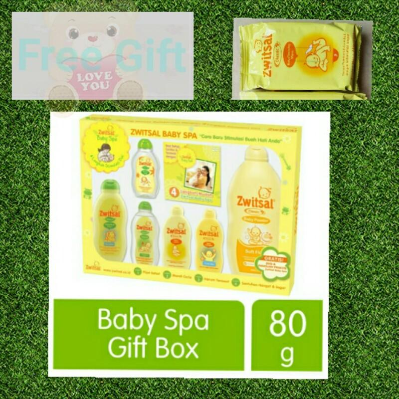 ZWITSAL Baby Spa Gift Box Set Kado Freeong