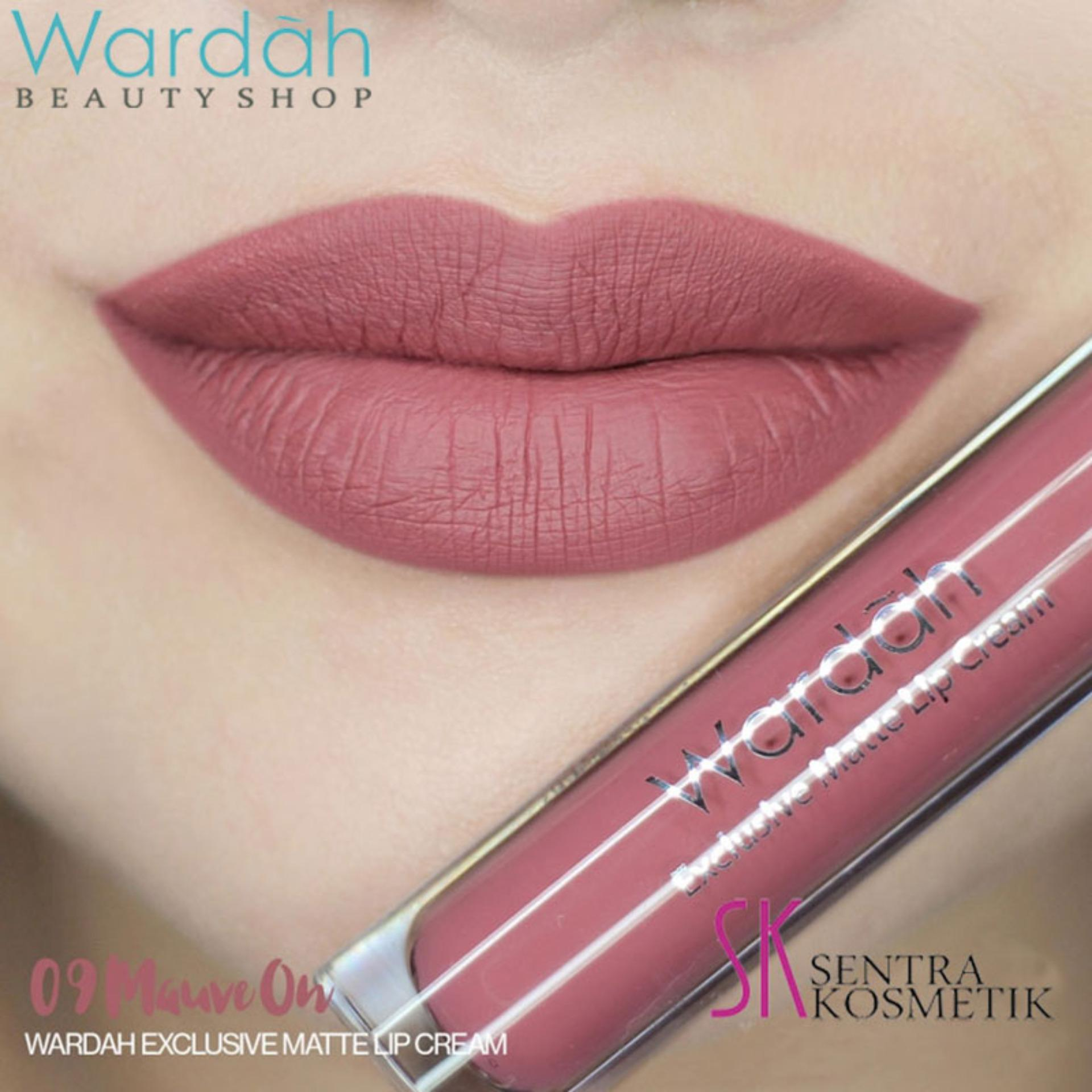 Wardah Exclusive MATTE LIP CREAM 09 - mauve on