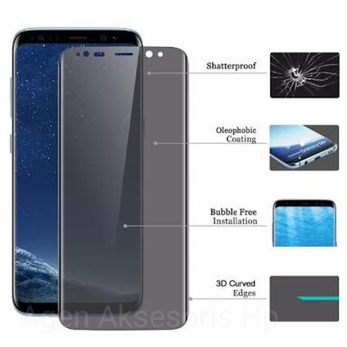 Full Curved Anti Spy Tempered Glass Samsung Galaxy S9 Plus