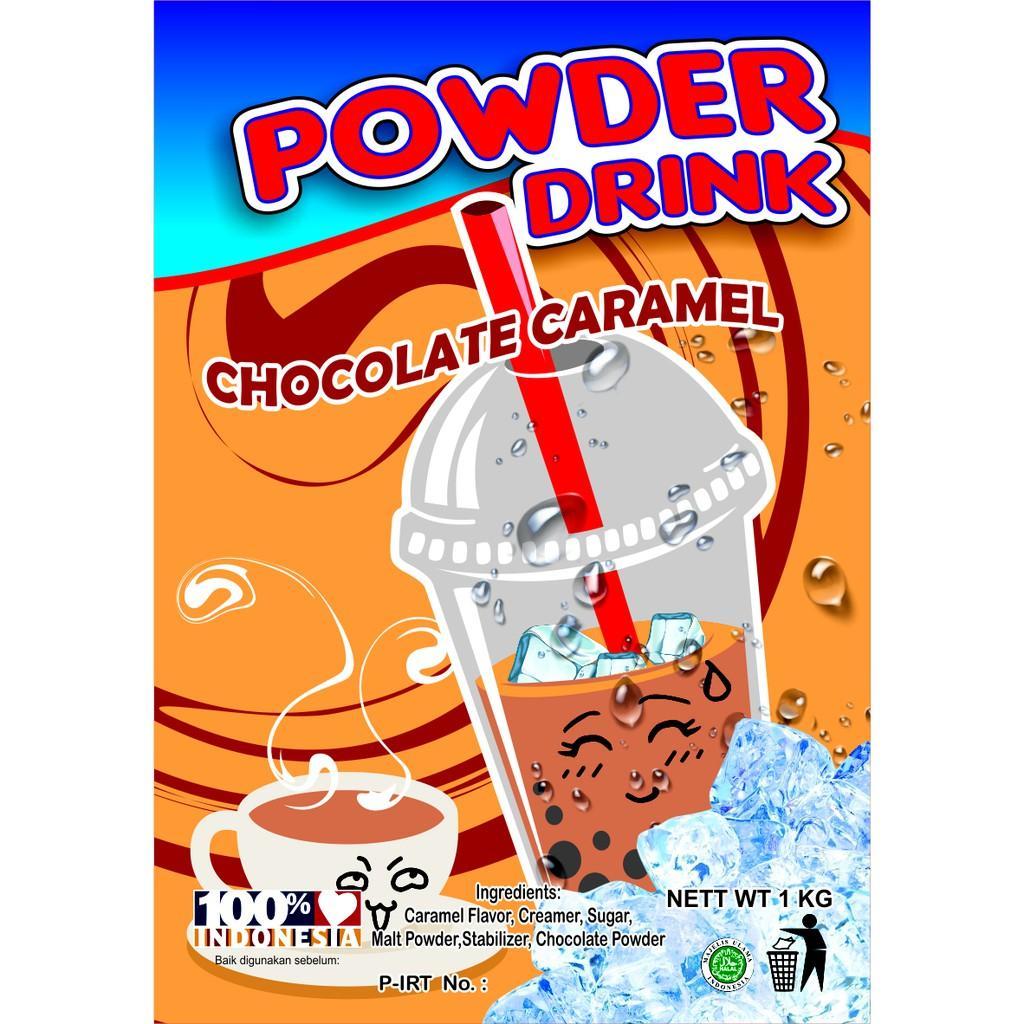 Bubuk Minuman Bubble Powder Drink Rasa Choco Caramel ORIGINAL Javaland 1Kg