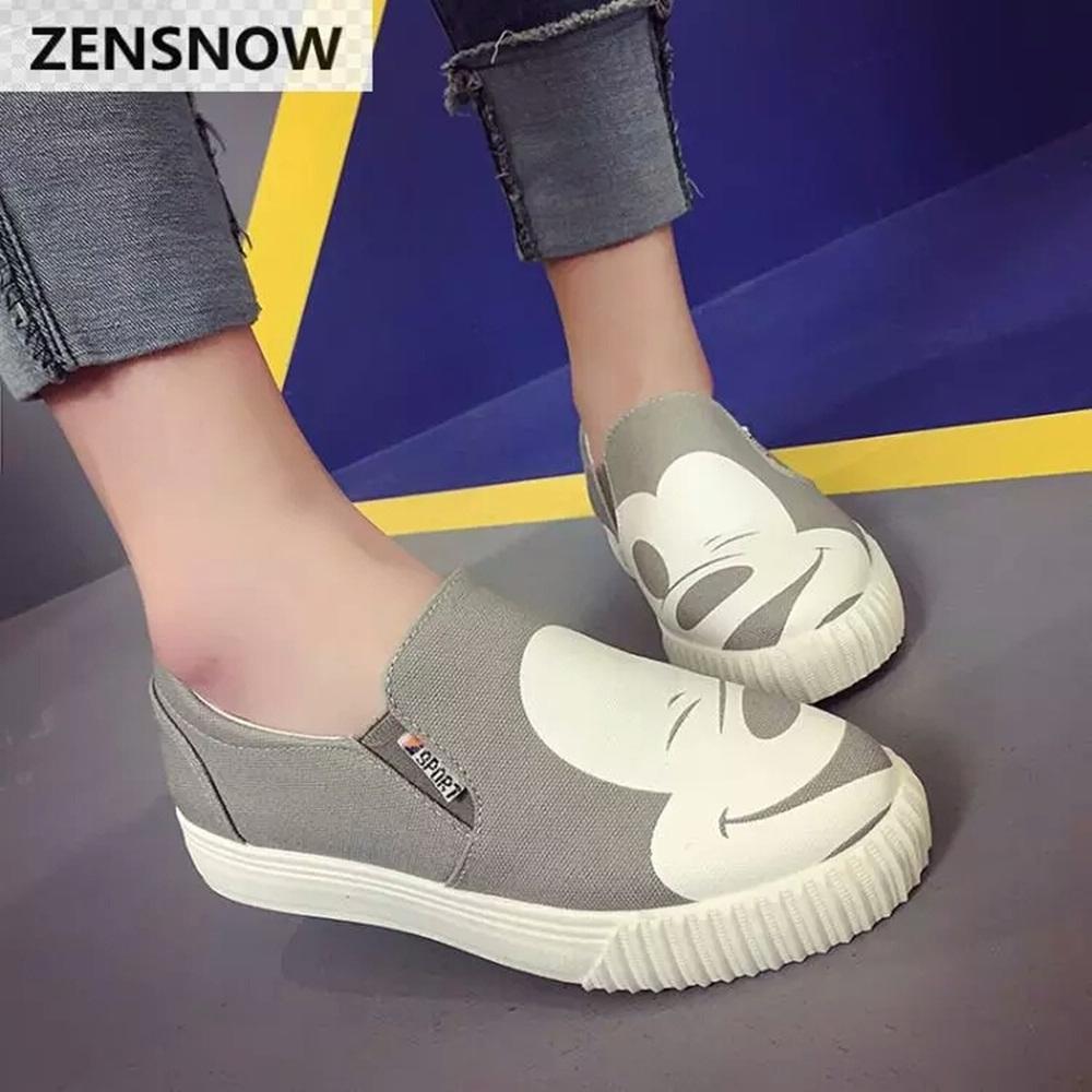 Sepatu Kets Wanita Mouse Abu Abu
