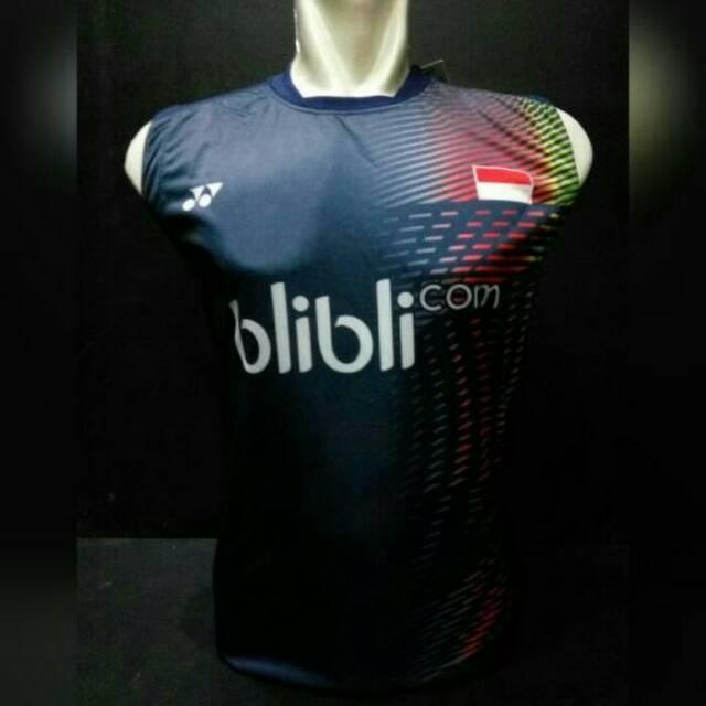 Kaos Singlet Atasan Baju Olahraga Badminton / Bulutangkis Yonex Y25 Navy
