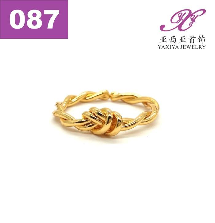 Cincin Lapis Emas Perhiasan Imitasi Gold 18K Jewelry 087