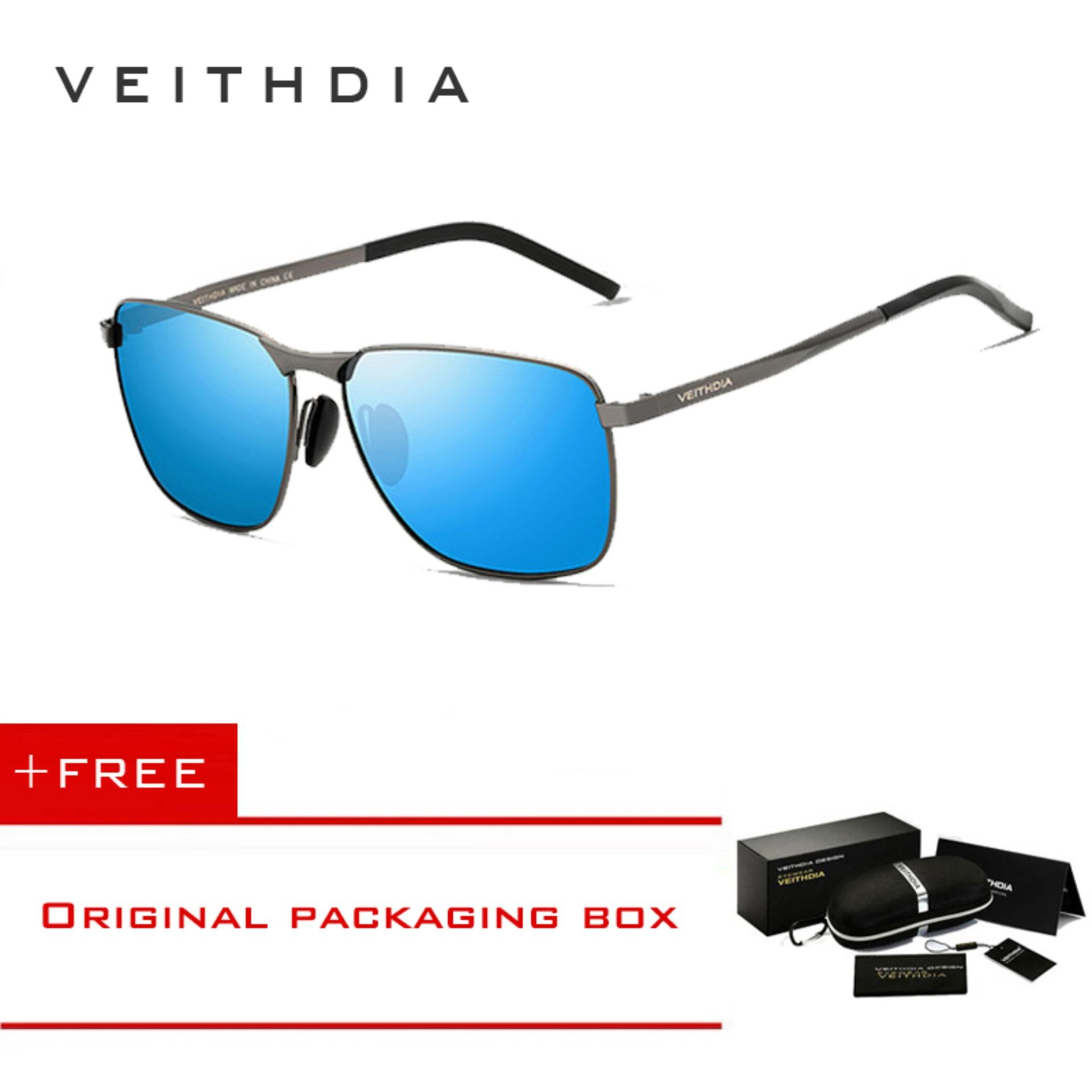 VEITHDIA Kacamata Hitam Sunglasses Pria Termaniskan Polaris Kotak Kacamata 2462