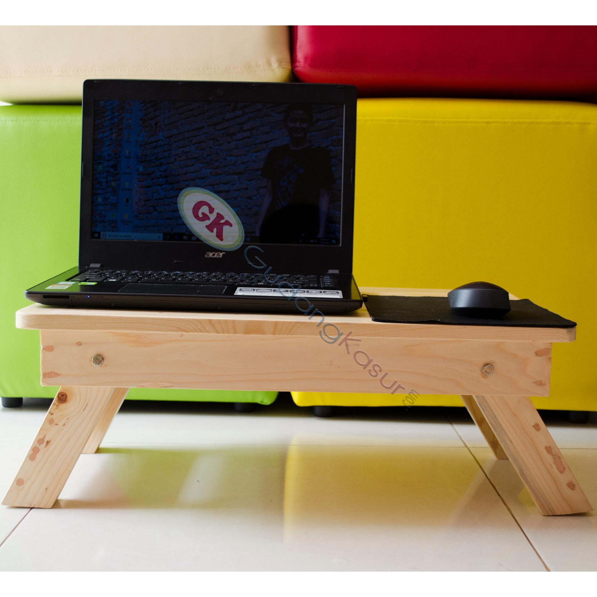 New Update Of Meja Laptop Lipat Kayu Lesehan Portable Mulltifungsi Stand Jati Kokoh Belanda Untuk 55x35cm