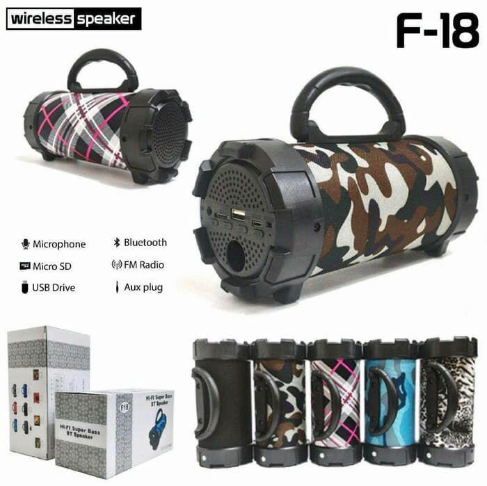 Speaker Aktif F18 Portable Bluetooth Karaoke and USB Wireless Speaker