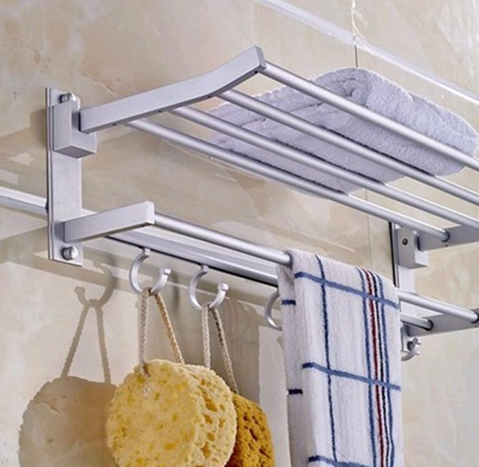 rak gantung aluminium serbaguna / gantungan handuk kamar mandi toilet / rak gantung aluminium terbaru /