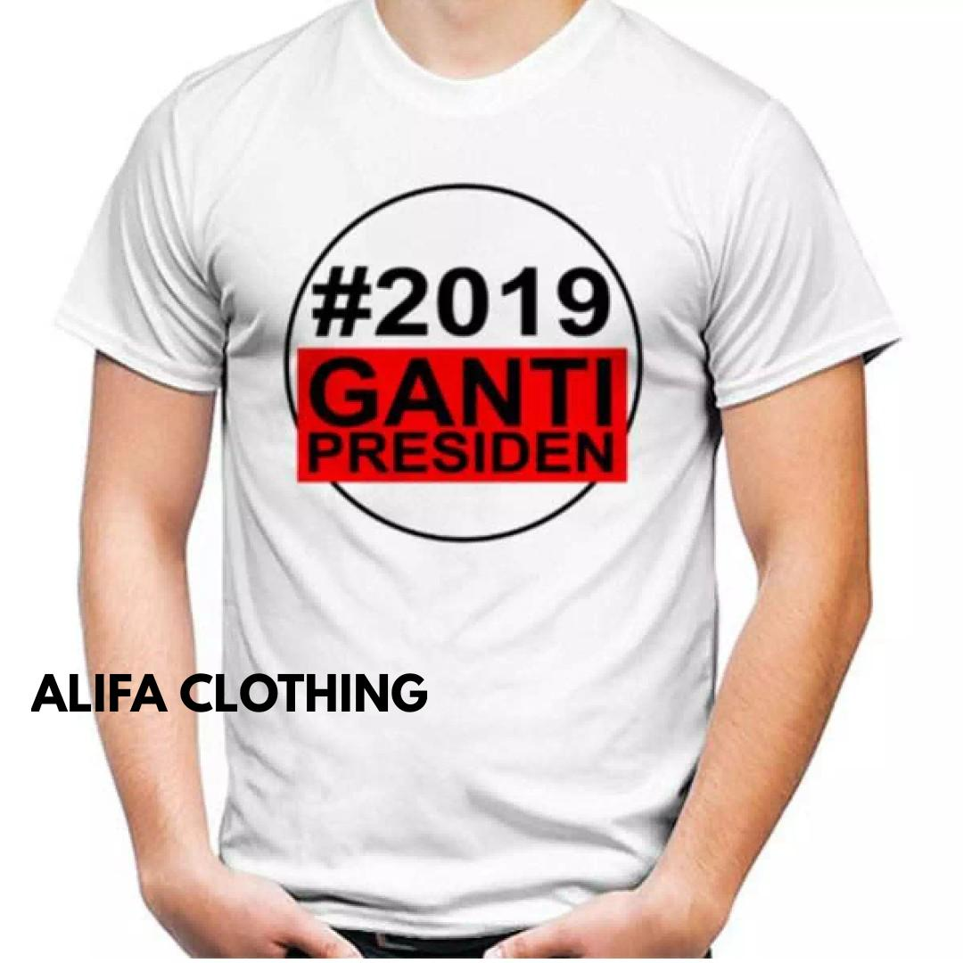 Kehebatan Kaos Distro 2019 Ganti Presiden Baju Berkualitas Keren 40d2efb154