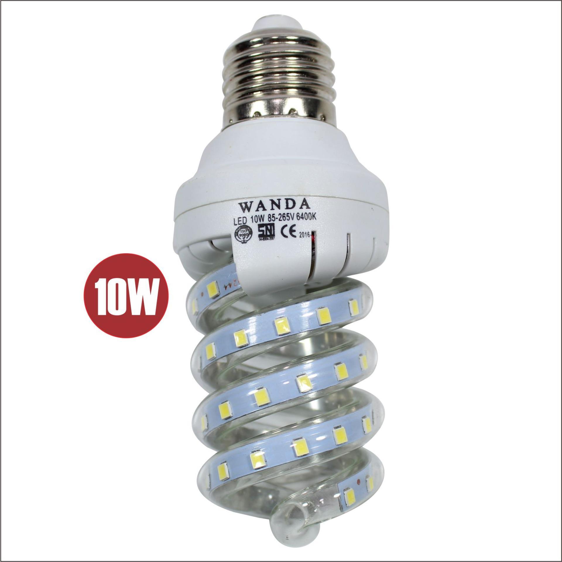 WEITECH Lampu Hemat Energi Transparan Spiral 10W
