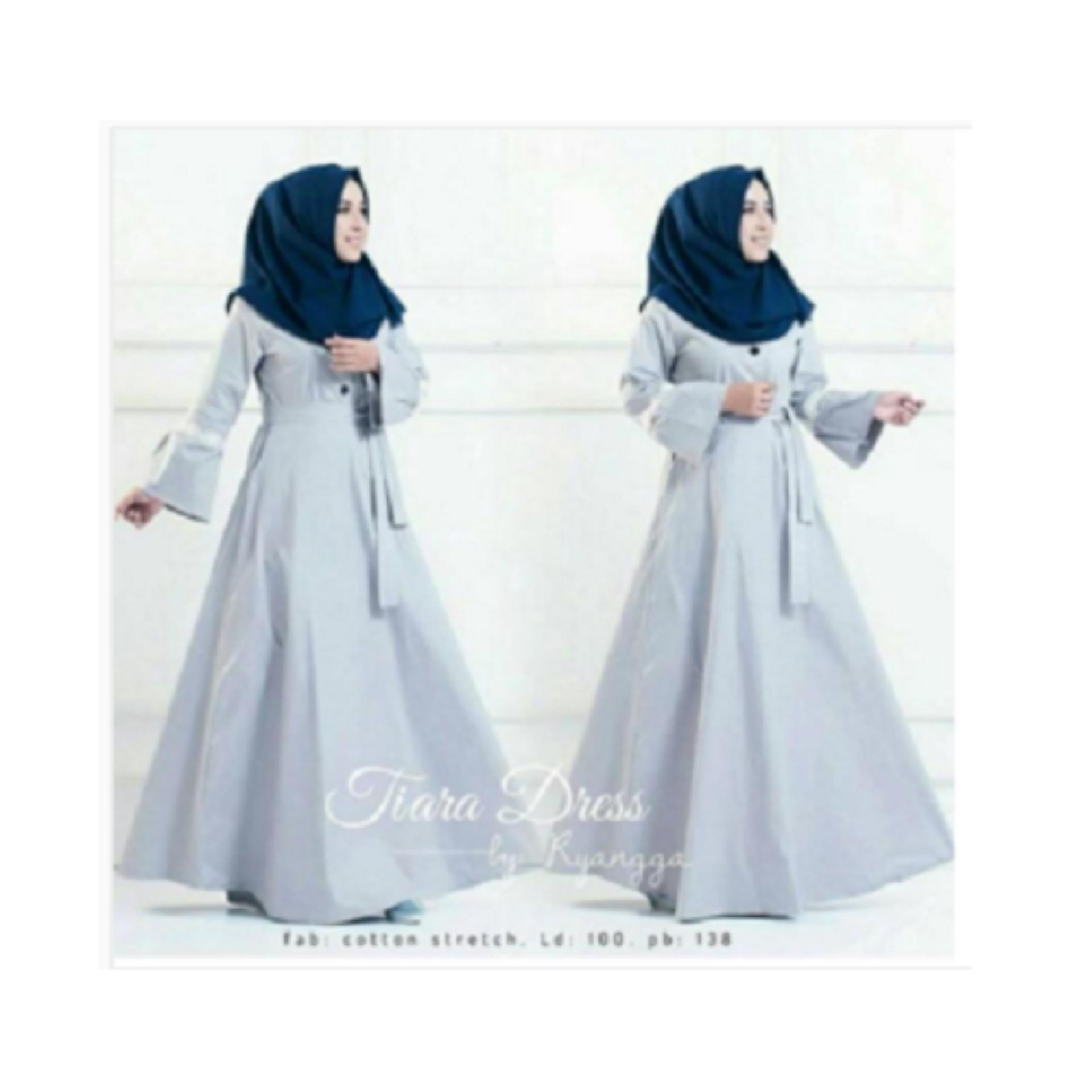 Baju Muslim Original Gamis Tiara Dress Dress Wolfice Muslim Panjang Dress  Casual Wanita Pakaian Hijab Modern 0d9471ddcf