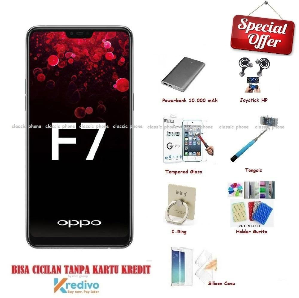 OPPO F7 [4/64GB] + New Accessories Package (7 Item)