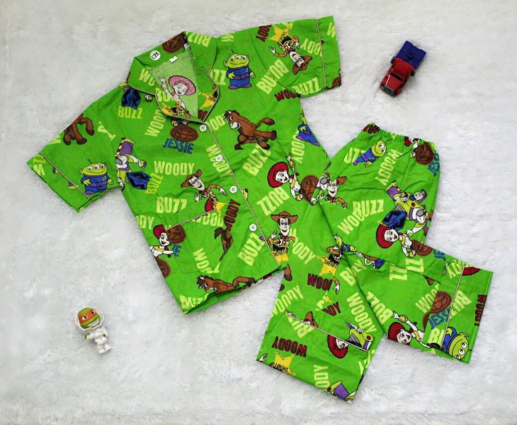 Baju Tidur Bayi Laki Terbaik Soeok Setelan Pendek Oblong Sml Velvet Junior Animal Piyama Size 1 2 Dan 3 Piama Anak Woody Jessie And