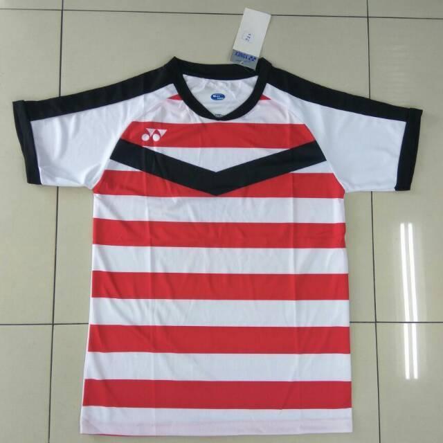 Kaos Atasan Baju Olahraga Jersey Badminton / Bulutangkis Yonex Y33 Merah