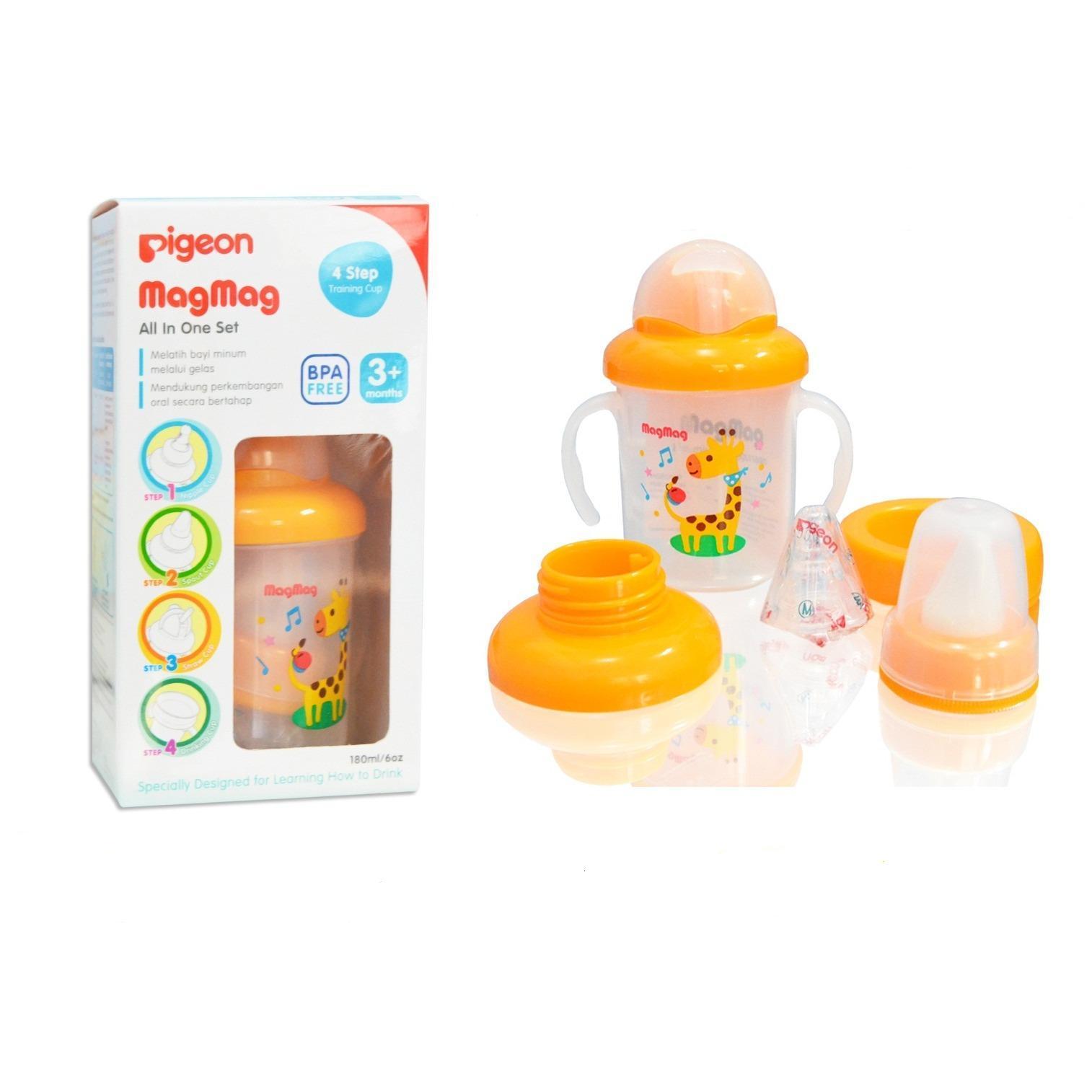 Pigeon MagMag All In One Set 4 Step - Mag Mag Botol Minum Bayi 4 Step