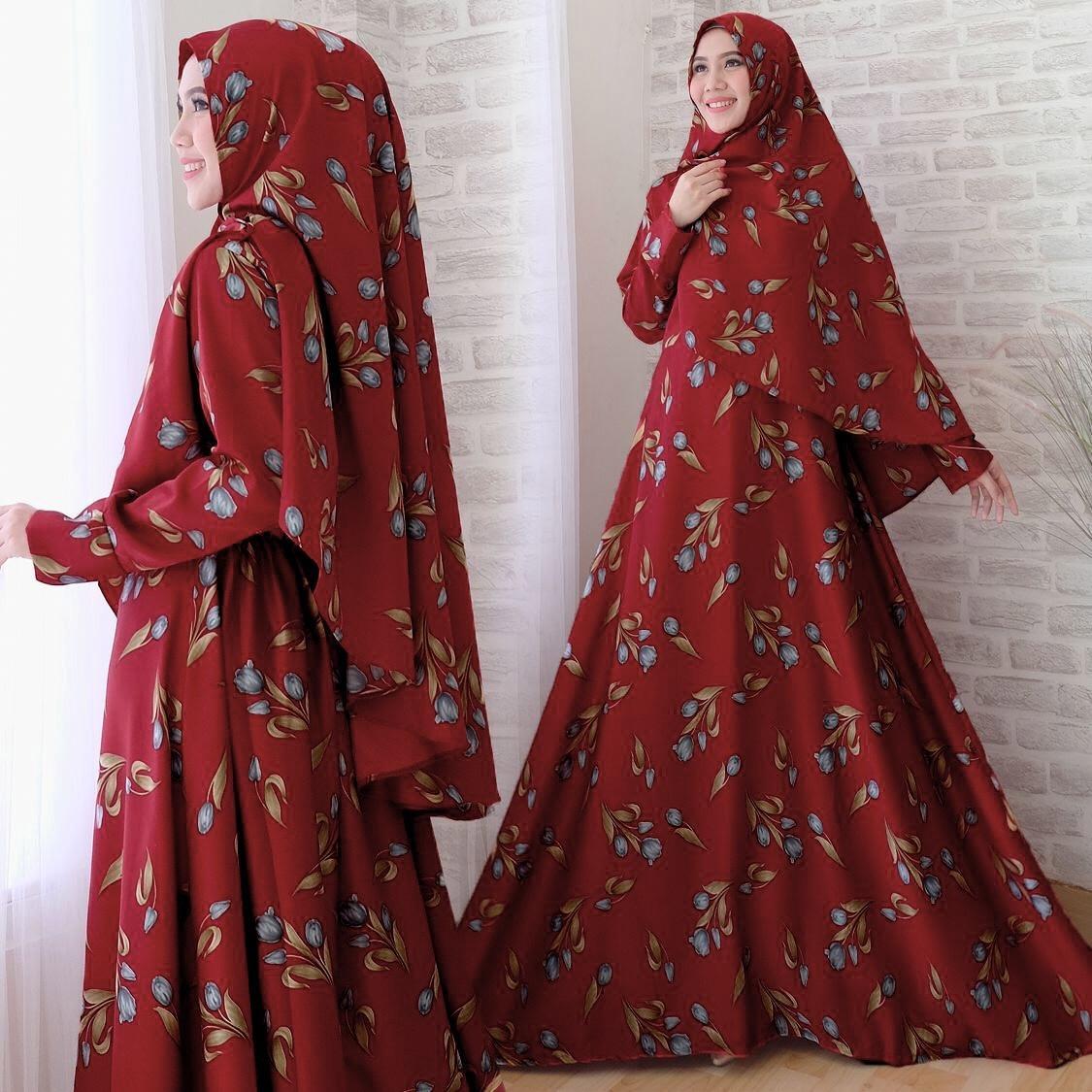 Alasxyashop Baju Gamis Muslim Delia   Dress Muslimah   Hijab Muslim   Gamis  Syari I 59994b53aa
