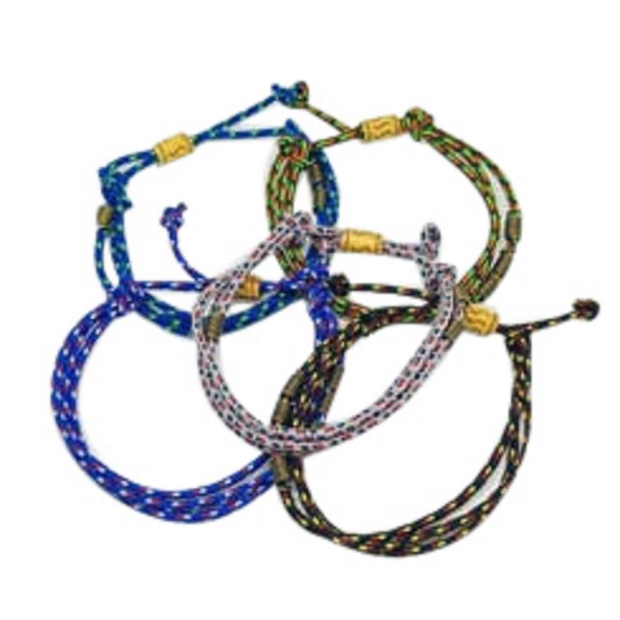 Robagin 5 pc gelang tali warna warni