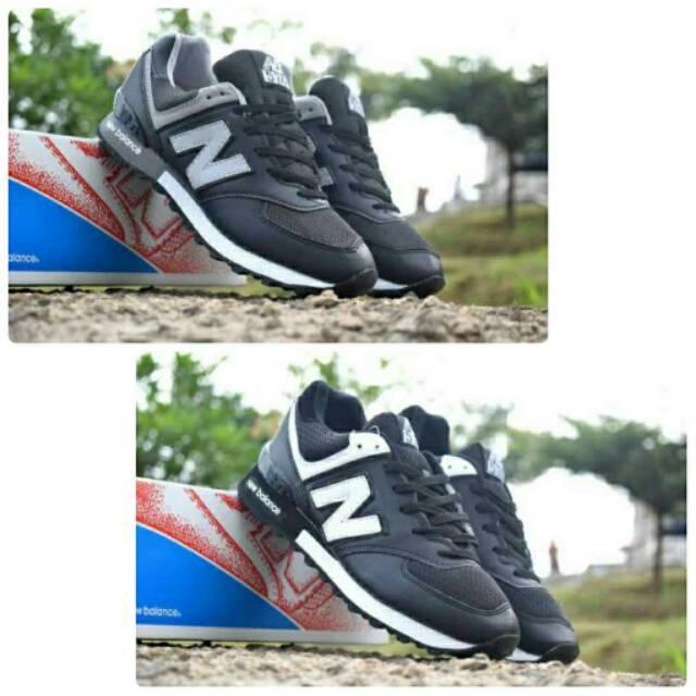 Sepatu Sneakers New Balance 574 Casual Keren Santai Pria Murah Promo  Jogging Slip On Slop Cowok fc30639ba8