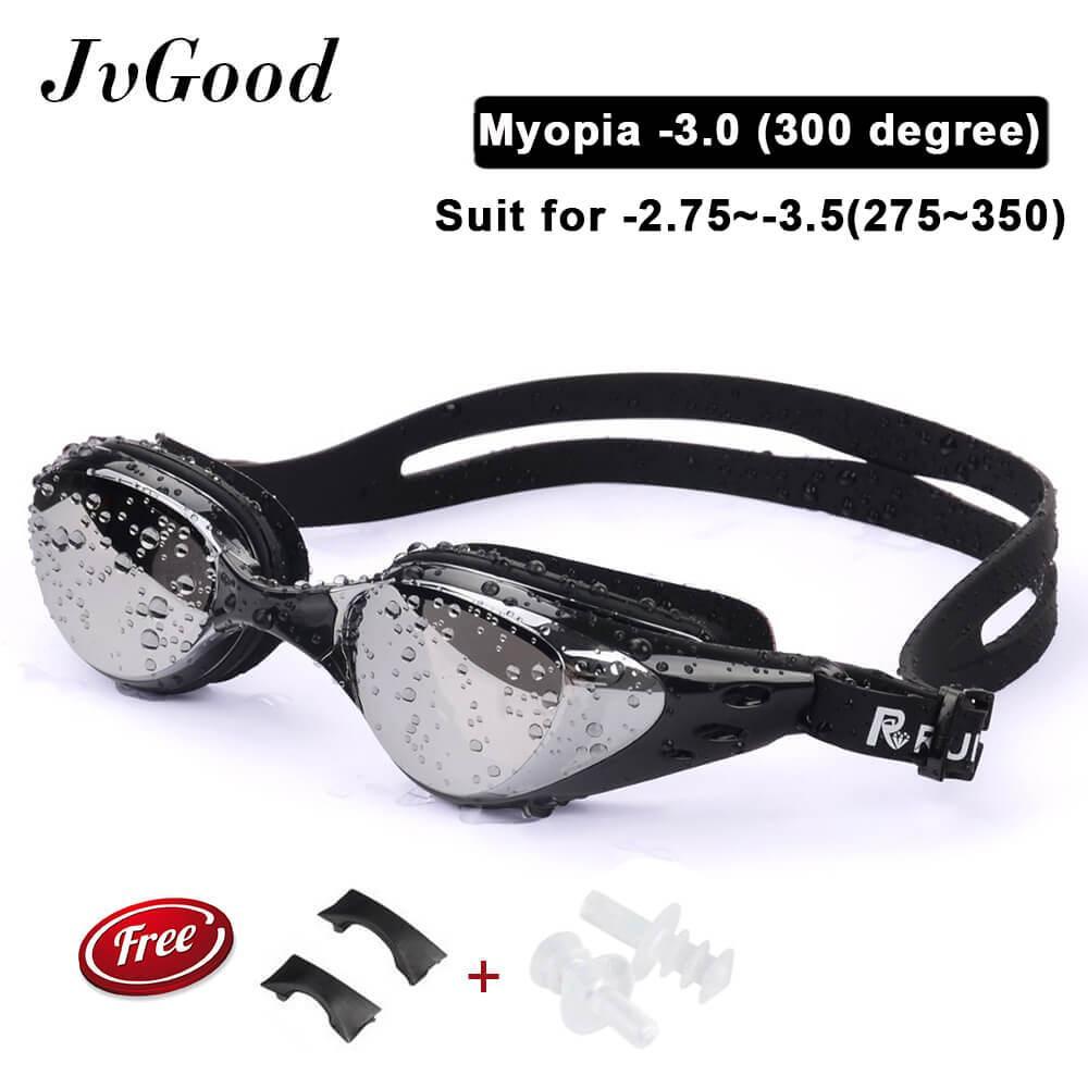 Jvgood Kacamata Renang Minus Myopia Anti Berkabut Embun Berenang Olahraga
