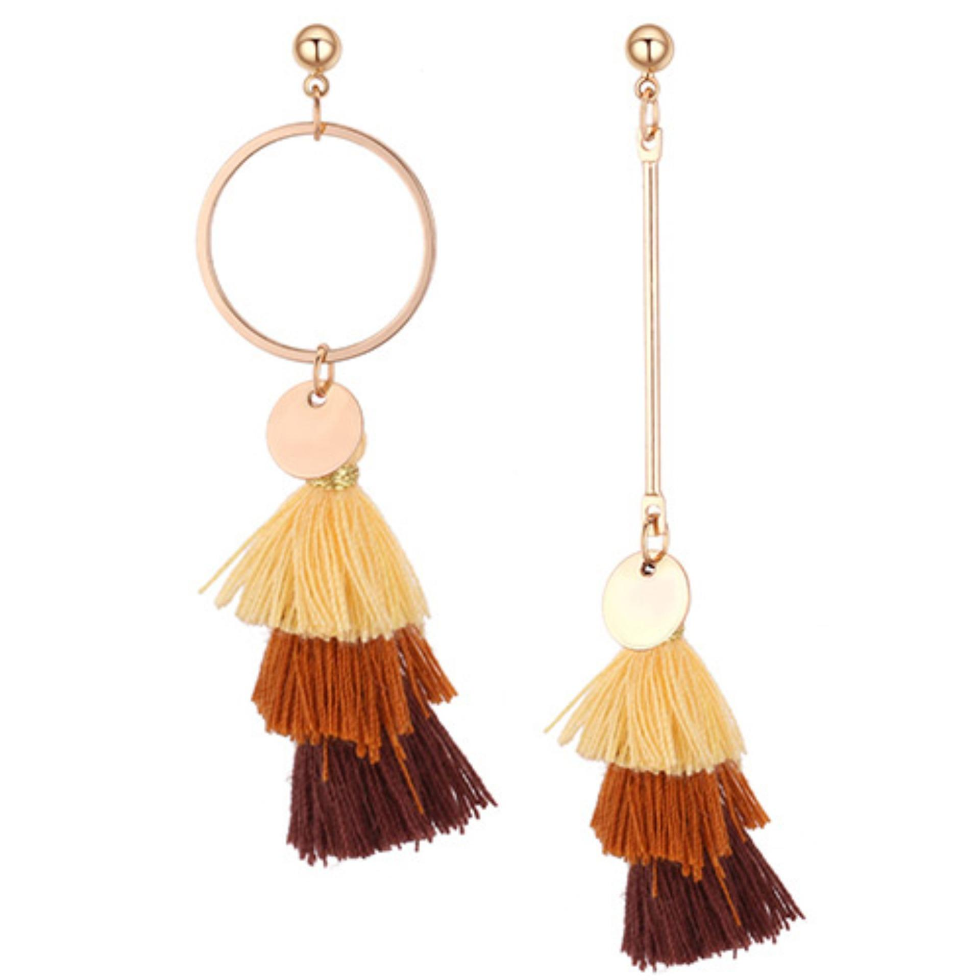 LRC Anting Tusuk Fashion Color matching Decorated Earrings
