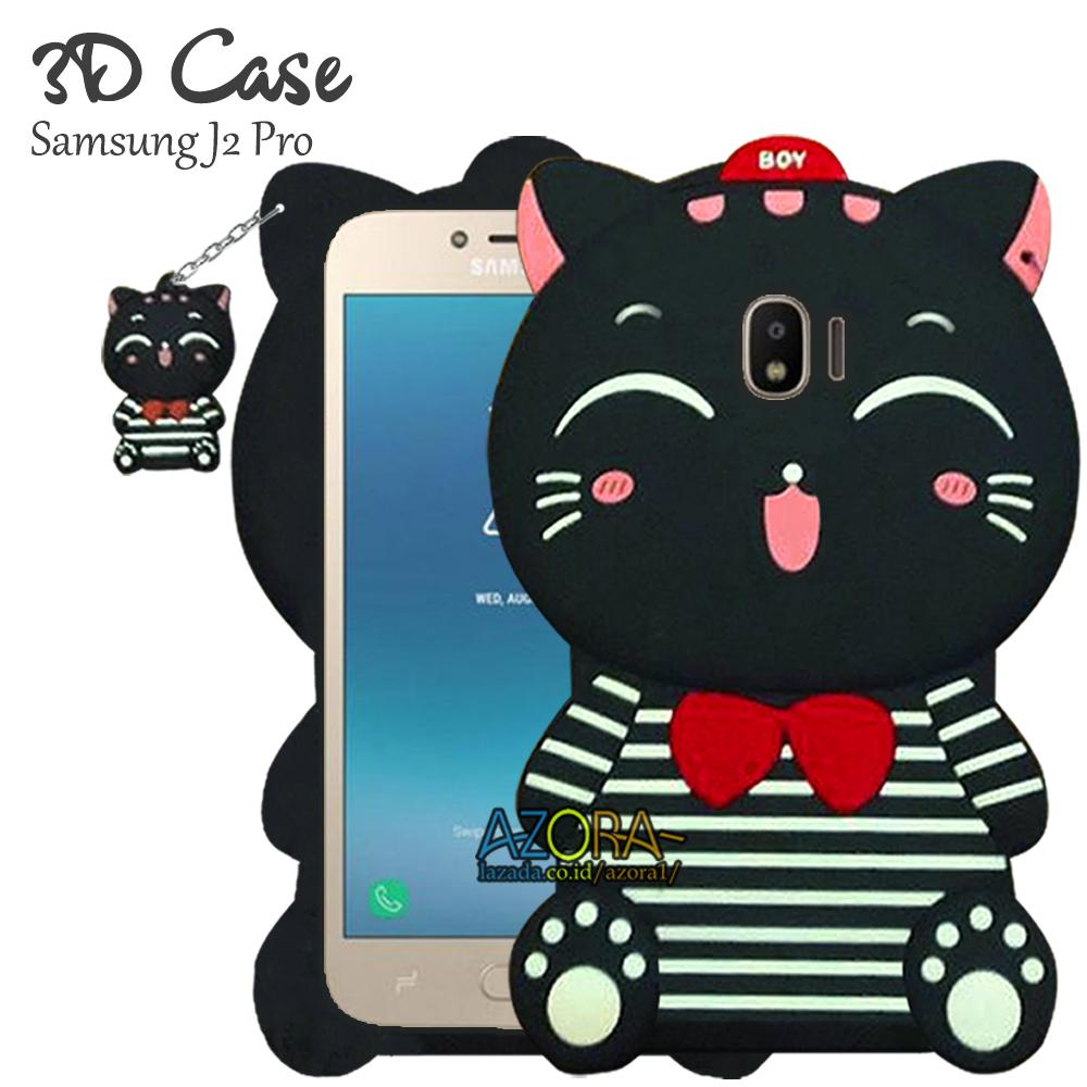 3D Case Samsung Galaxy J2 Pro 2018 Softcase 4D Karakter Boneka Hello Kitty Doraemon Lucu Character