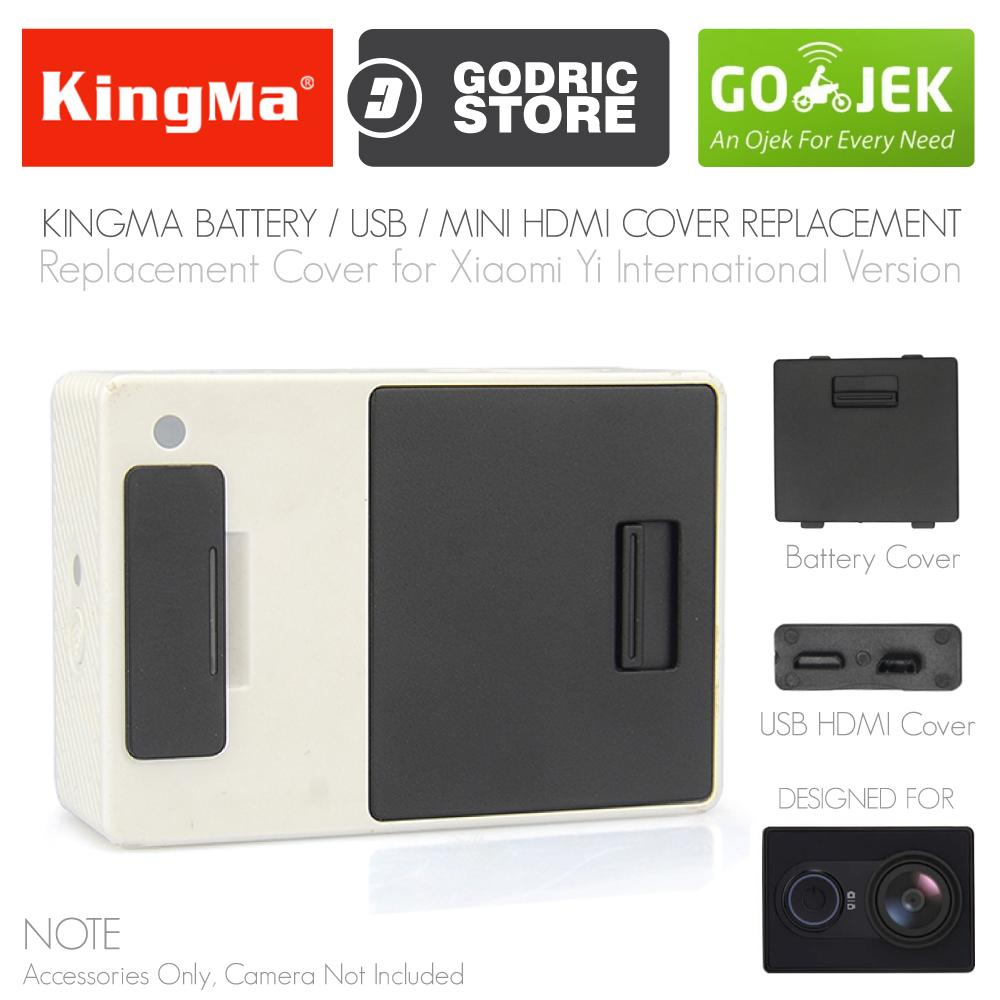Godric USB Battery Cover / Tutup Baterai Spare for Xiaomi Yi International
