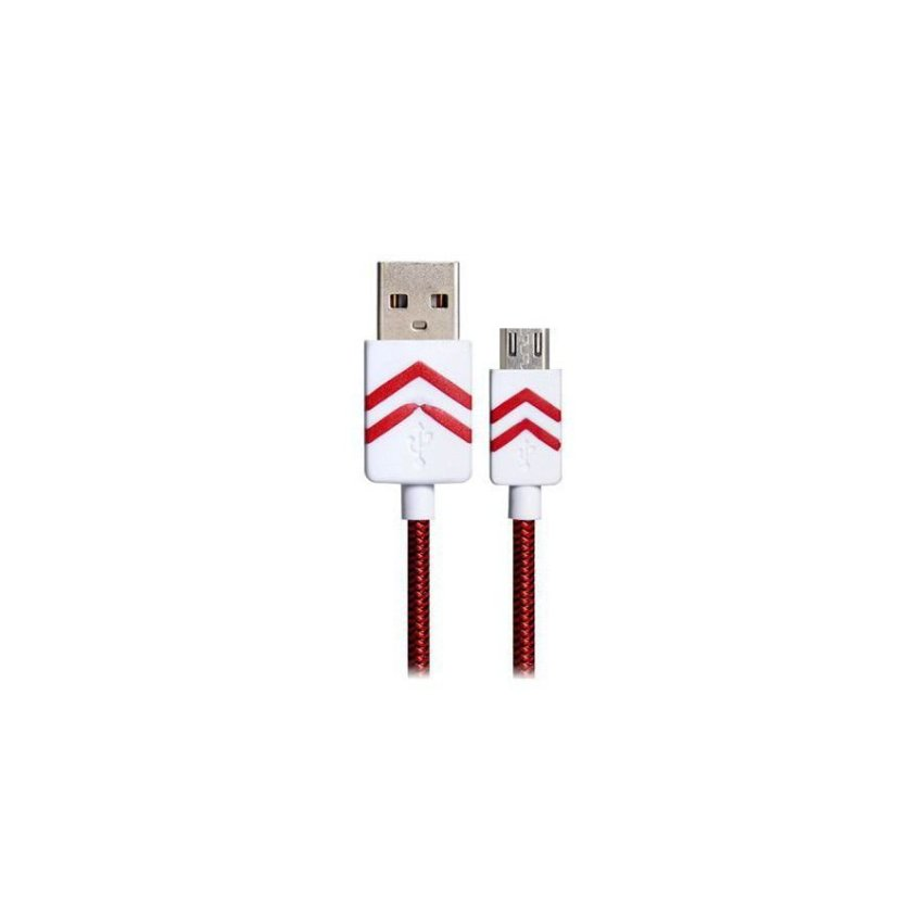1.2m Micro USB Woven Charging Data Cable Red