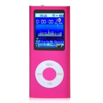 "1.8"" 8GB MP3 MP4 Slim Digital LCD Screen FM Radio Music E-book Video Player Hot Pink Free Shipping"