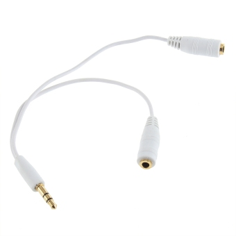 1 PCS Earphone Headphone Splitter Cable Adapter Jack