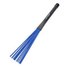 1 pasang biru nilon Drum stick stik Drum Rock Jazz sikat dengan pegangan karet