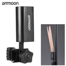 ammoon yang dapat multifungsi klem penjepit pada stik Drum penjaga dudukan wadah Case kotak logam hitam