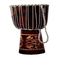 Cahaya Abadi - Jimbe Djembe Drum Factory, T: 60 Cm, R: 25 Cm, Mainan Anak - Coklat
