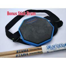 Drum Pad 6 inch Bisa diikat dipaha (Bonus Stick Drum)