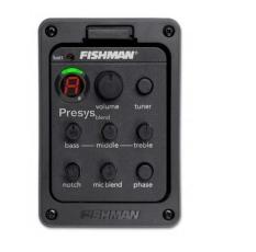 FISHMAN Presys 301 perpaduan mikrofon Dwi Preamp EQ penyetem gitar model pikap Piezo mengalahkan- intl