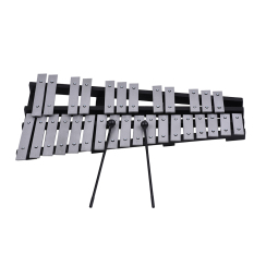 Foldable 30 Note Glockenspiel Xylophone Wooden Frame Aluminum Bars Educational Percussion Musical Instrument Gift with Carrying Bag - intl