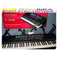 Keyboard piano techno t 9100 i keyboard murah techno t9100
