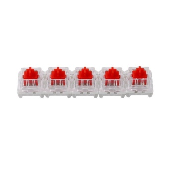 LALANG 5Pcs 15mm Wired USB Mechanical Switch Keyboard Universal Series (Red) - intl