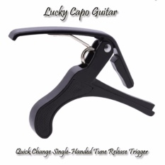 Lucky Capo Guitar | Quick Change Single-Handed Tune Release Trigger - Black - 1 Pcs