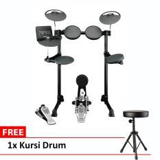 Yamaha Drum Elektrik DTX 450K + Free Kursi Drum - Hitam