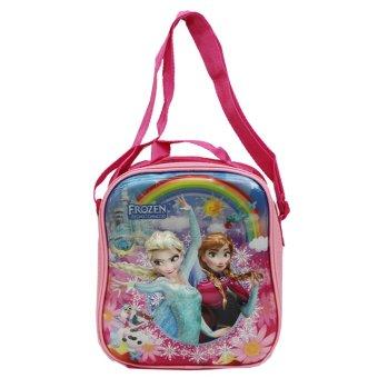 Onlan Frozen Fever 5d onlan lunch bag tas bahu selempang disney frozen fever 5d